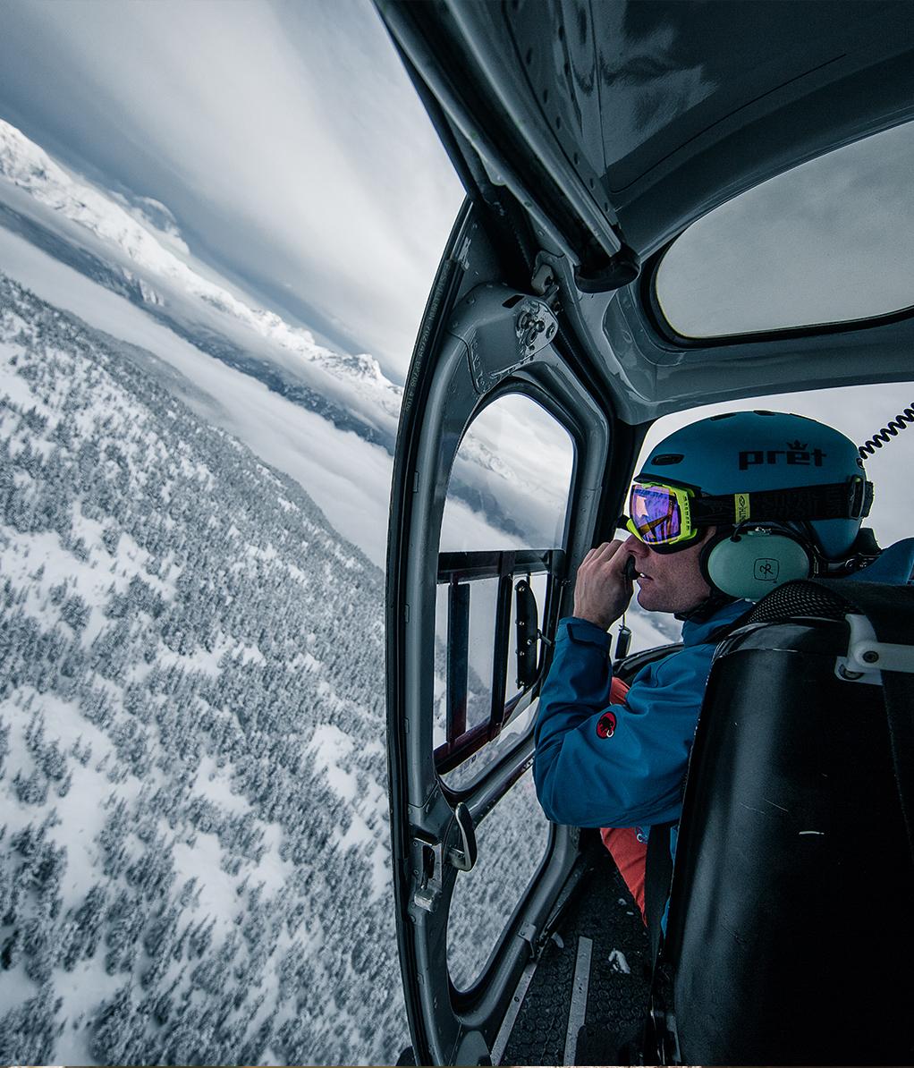 Heliskiing Kanada Helikopterflug