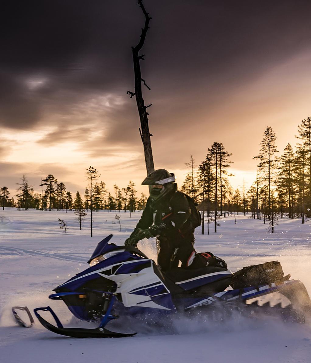 Schweden Schneemobil